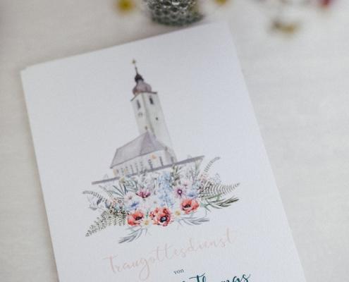 Bergblumen und Hirsch Papeterie