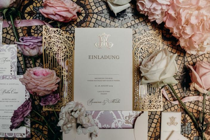 exklusive hochzeitseinladungen Villa Erba Luxury Papeterie